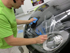 protective automotive window film installation
