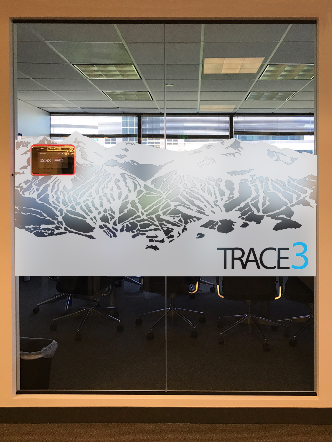 Colorado Themed Window Film Adds Privacy Amp Branding To