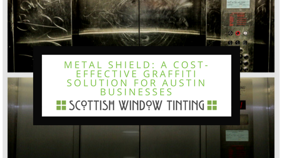 Elevator Graffiti Removal That is 10 x Less Expensive With Metal Shield