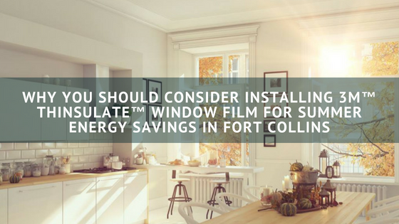 Why You Should Consider Installing 3M™ Thinsulate™ Window Film for Summer Energy Savings in Fort Collins