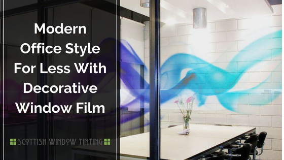 Modern Office Style For Less With Decorative Window Film
