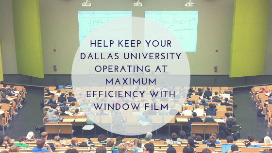 Help Keep Your Dallas University Operating at Maximum Efficiency with Window Film