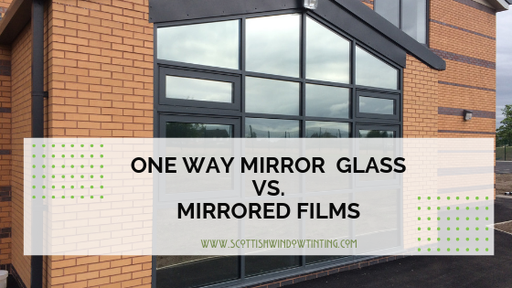 One Way Mirror Glass vs. Film in Denver